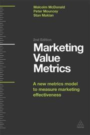 Marketing Value Metrics by Malcolm McDonald