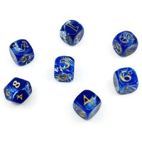 The One Ring Dice Set - Blue & White