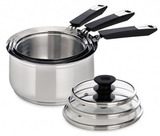 Wiltshire Smartstack - Set of 3 Saucepans with Lids