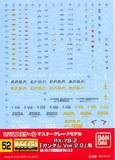 GD-52 MG RX-78-2 Gundam Ver. 2.0 1/100 Decal Sheet