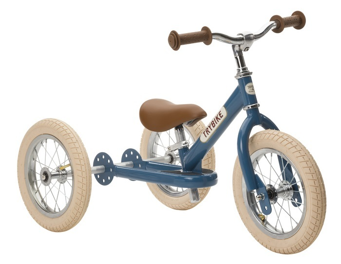 Trybike: 2-In-1 Steel Balance Bike - (Blue/Brown) image