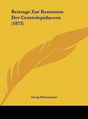 Beitrage Zur Kenntniss Der Centrolepidaceen (1873) by Georg Hieronymus