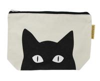 Canvas Cosmetic Bag (Black Cat)
