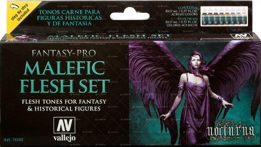 Vallejo Fantasy Pro: Fantasy-Pro Malefic Flesh Paint Set