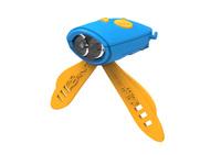 Mini Hornit Electronic Bike Bell & Light (Blue/Orange)