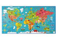Scratch: Preschool Puzzle - World Map (150pc)