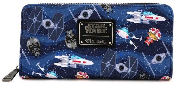 Loungefly: Star Wars - Chibi X-Wing / TIE Zip-Around Wallet
