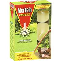 Mortein Pk12 Outdoor Mosquito Tea Light Candles Citronella