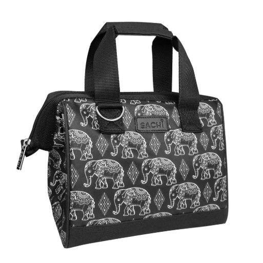 Sachi: Insulated Lunch Bag - Boho Elephants