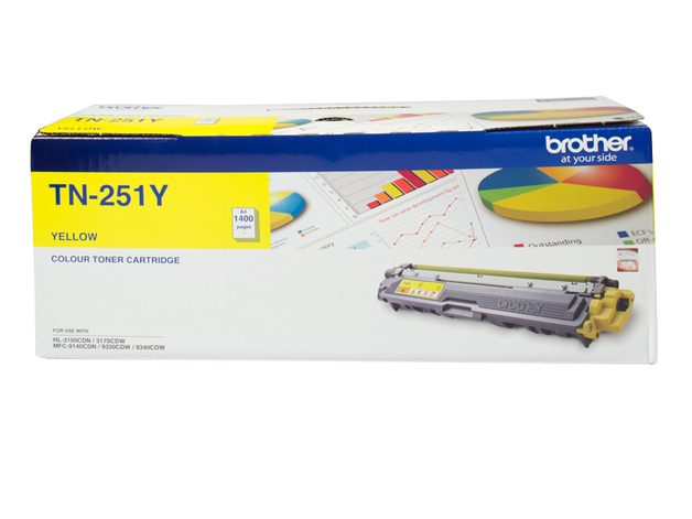 Brother TN-251Y Toner (Yellow)