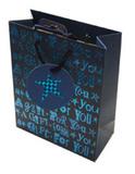 Foiled Birthday Bag - Medium (Black + Blue Pair)