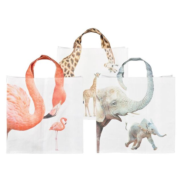 Animal Shopping Bag - Zoo - Assorted
