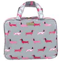 Wicked Sista Medium Tri-Fold Cosmetic Bag - Dachshund Parade