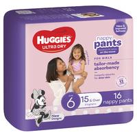 Huggies: Ultra Dry Nappy Girl Pants - Size 6