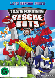 Transformers Rescue Bots: Land Before Prime on DVD