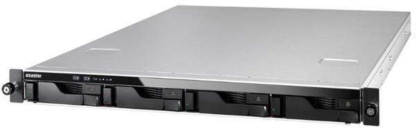 Asustor: AS6204RD 4 Bay Celeron 1.6GHz QC 4GB RAM 1U R/Mount NAS RPS 3Y