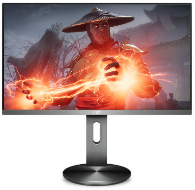 "27"" AOC IPS Monitor 4k Height Adjustable Gaming Monitor"