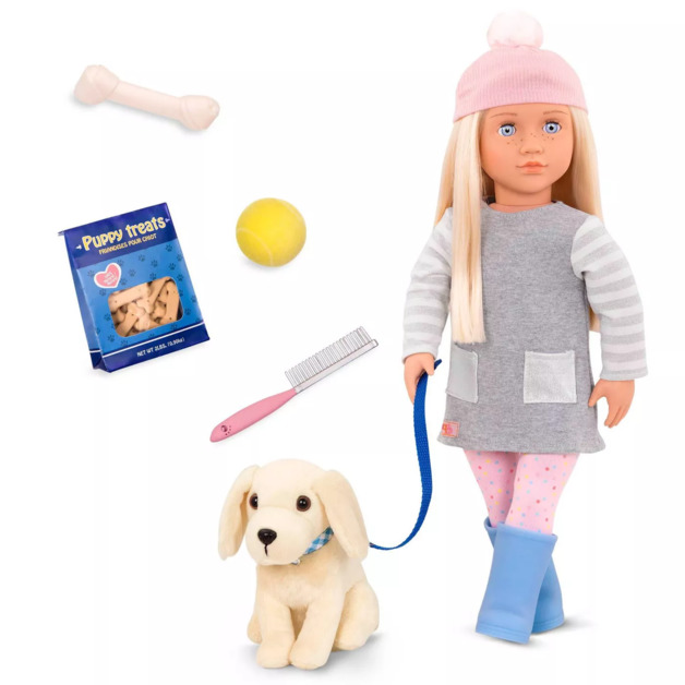 "Our Generation: 18"" Doll & Puppy Set - Megan"