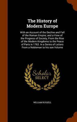 The History of Modern Europe by William Russell image
