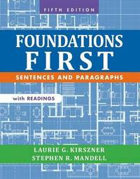Foundations First with Readings by Laurie G Kirszner image
