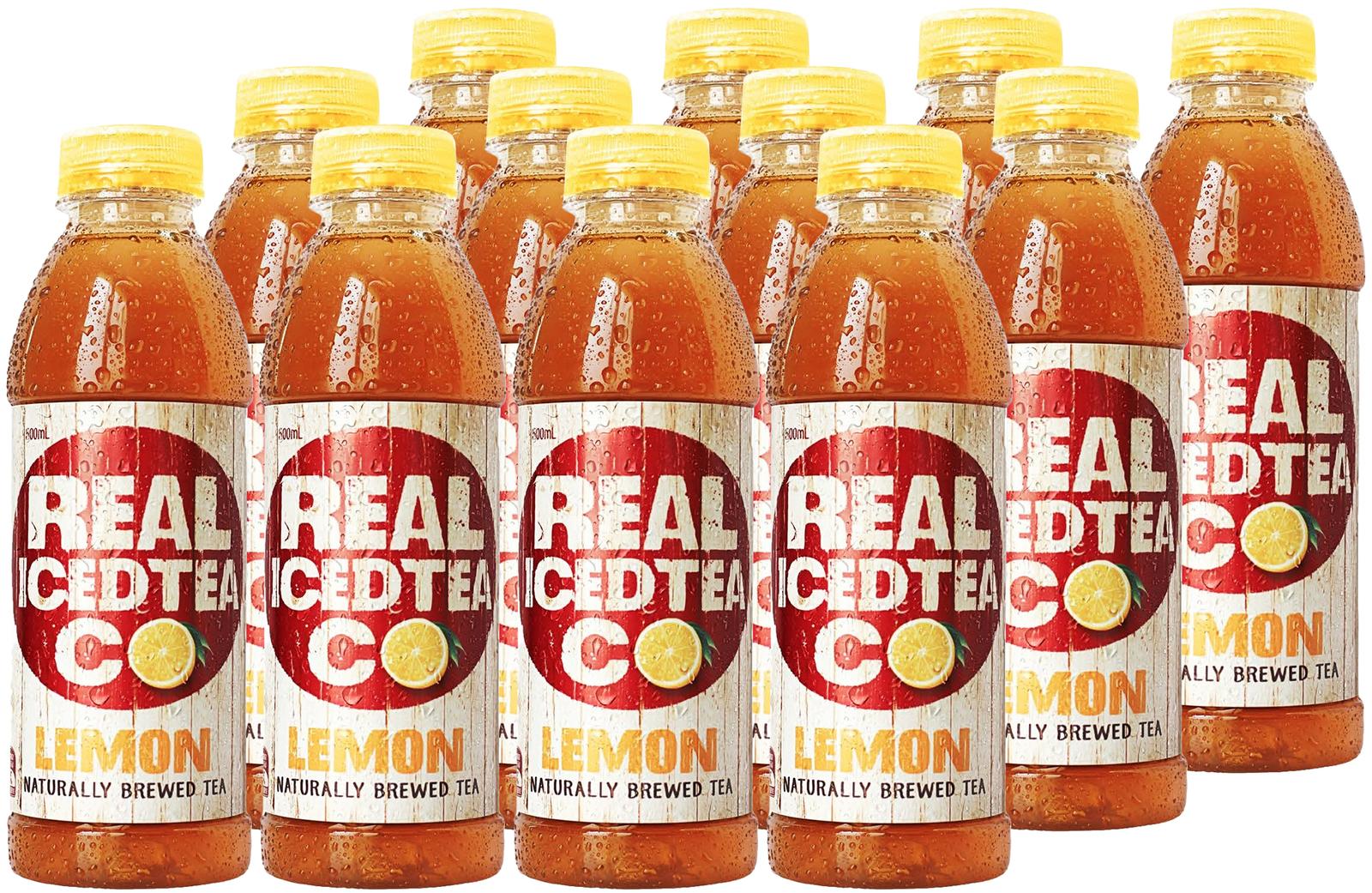 Real Iced Tea Lemon 500ml (12 Pack) image