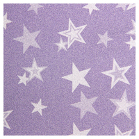SKINZ Sparklz Printed Glitter Book Cover - Purple