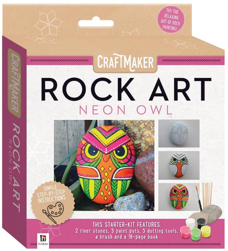 Craftmaker: Rock Art - Neon Owl image