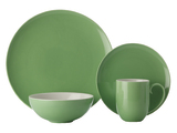 Maxwell & Williams Colour Basics Coupe Dinner Set - Green (16 Piece)