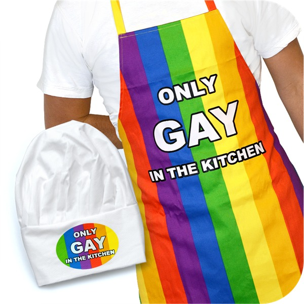 IGGI: Only Gay In The Kitchen - Apron & Hat Set