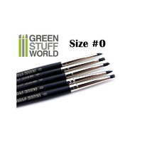 Green Stuff World Colour Shapers Brush Size 0: Black Firm Set