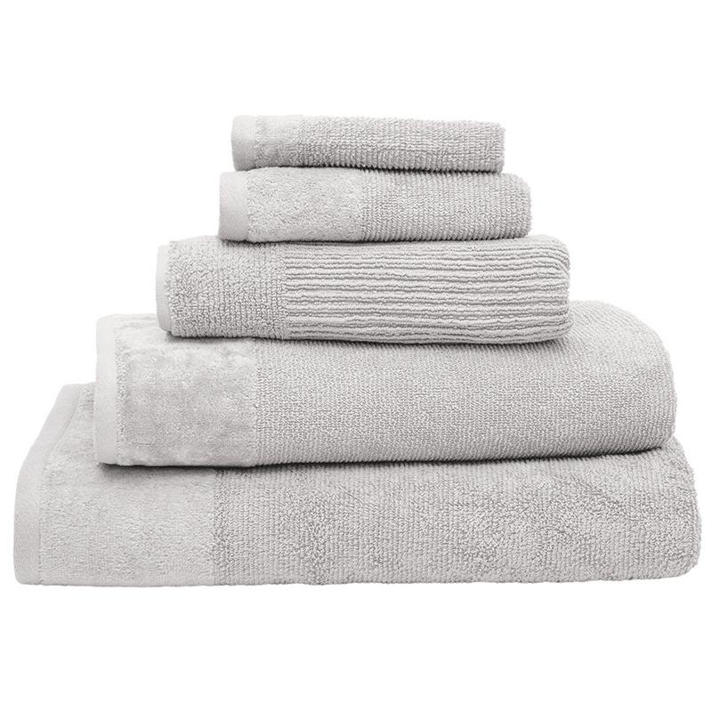 Bambury Costa Cotton Face Washer (Silver) image