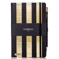Castelli: Stripes Notebook - Gold