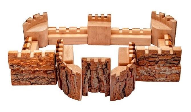 Magic Wood Knights Castle Playset 16 Piece Set