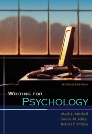 Writing for Psychology: With Infotrac by Mark Mitchell image
