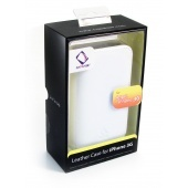Capdase Leather Case Bi-Fold for iPhone 3G (White)