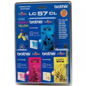 Brother LC-57CL3PK CMY Colour Ink Cartridges (Triple Pack)