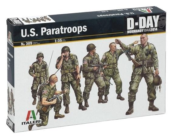 Italeri: 1:35 U.S. Paratroops - Model Kit