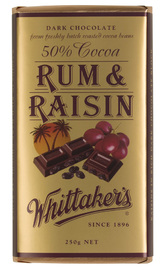 Whittakers Rum & Raisin Block (250g)