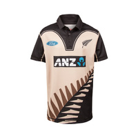 NZ Blackcaps Replica T20 Shirt Kids - Retro Beige (Size 6)