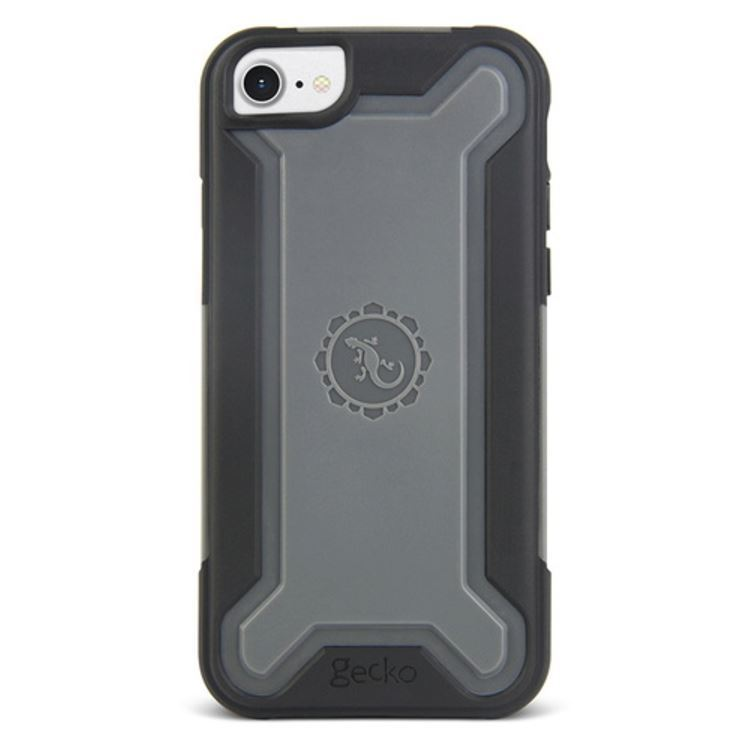 Gecko Ultra Tough Armour for iPhone 7/6/6s - Black/Grey image