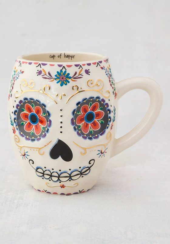 Natural Life: Folk Mug - Sugar Skull