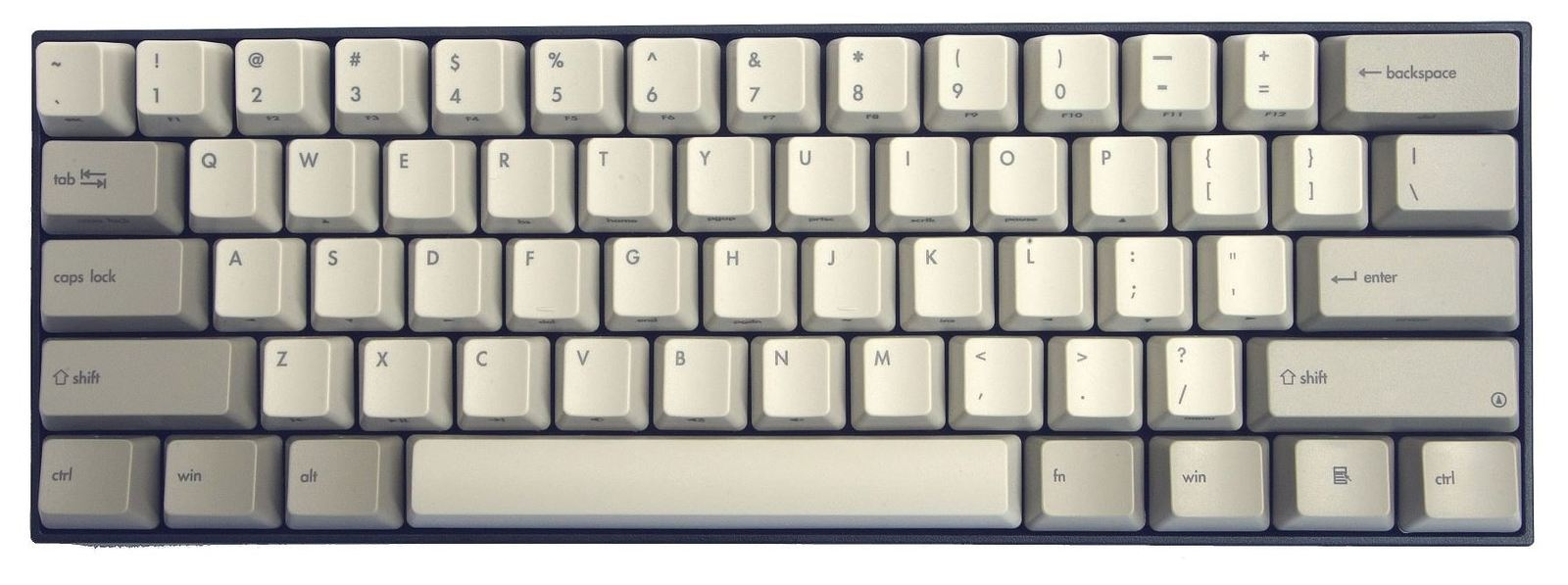 V60 Vintage ABS Keycap Mini Mechanical Keyboard - MX Silent Red image