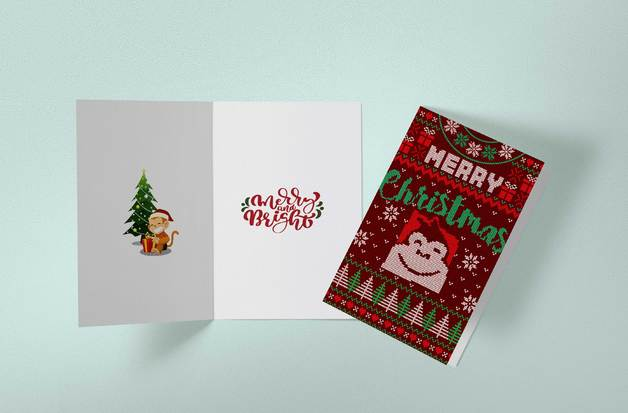 Gorilla Gift: Christmas Cards - Jersey (Pack of 10)