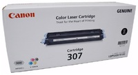 Canon CART307BK Black Toner Cartridge for LBP5000 - BLACK image