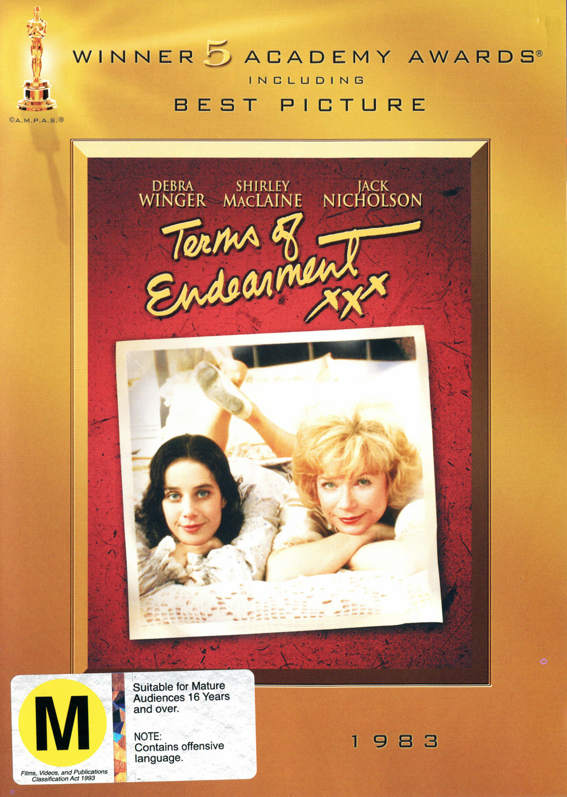 Terms of Endearment (Academy Gold Series) on DVD image