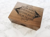 Cardtorial Wooden Box - You Are The World image
