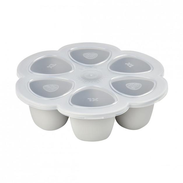 Beaba: Silicone Multi Portions 6x150 ml Light Grey