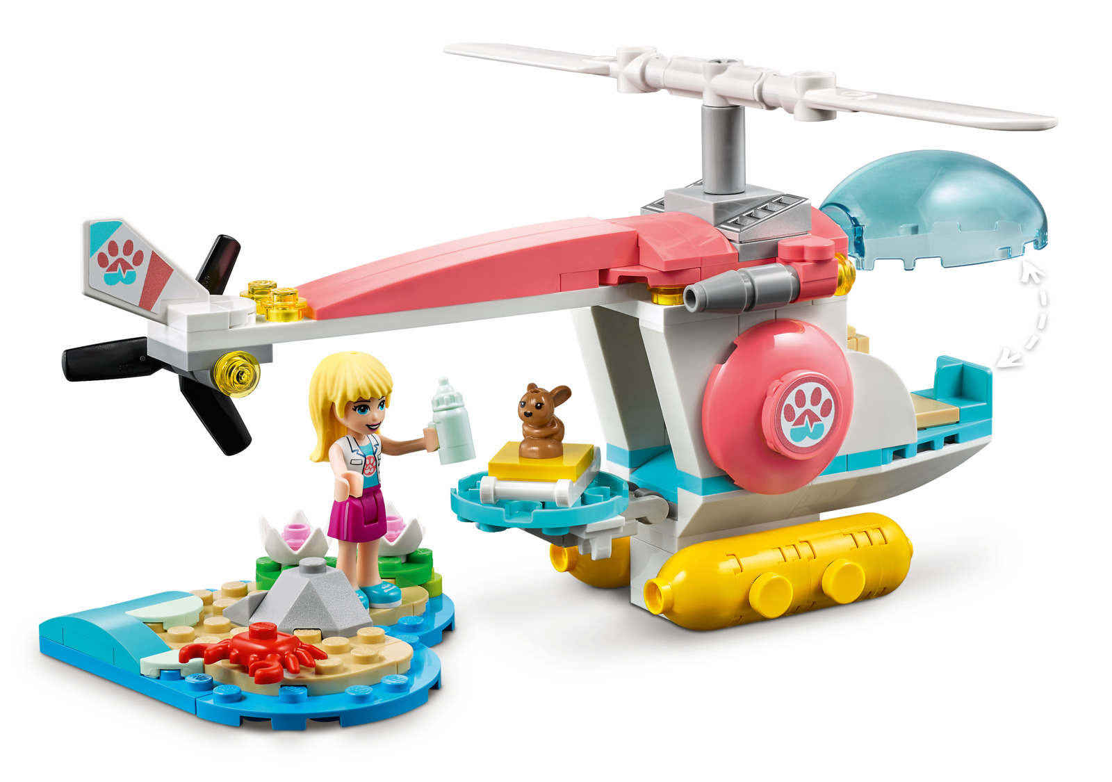 LEGO Friends - Vet Clinic Rescue Helicopter image