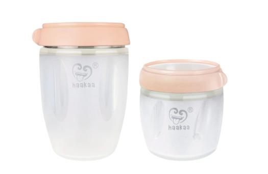 Haakaa: Gen 3 Silicone Breast Milk Storage Container Set - Peach