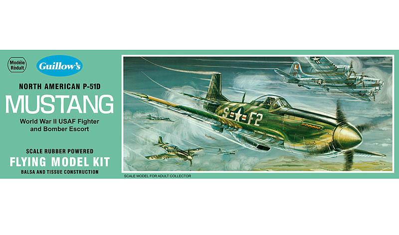 U.S. P-51D Mustang 1/25 Balsa Model Kit image